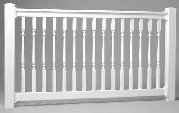 low maitenance railings for decks, steps, porches