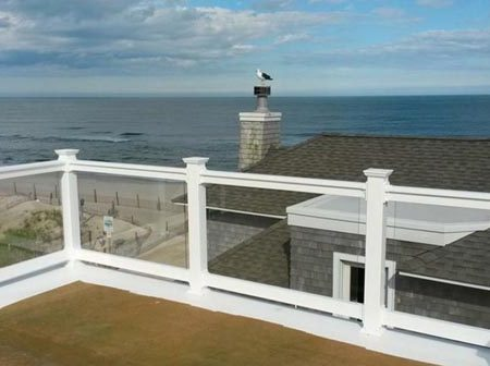 Clear glass railings delaware, delaware beach, lewes, rehoboth,de