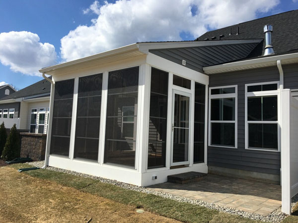 sunroom addition to back of house