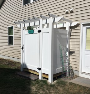 shower enclosure pergola top